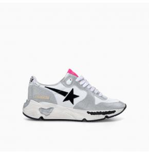 Glitter and white Running sole