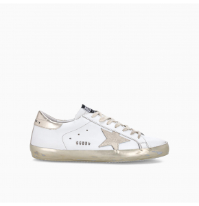 Super-Star sneakers with details and gold foxing