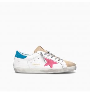 Superstar low top sneaker WHITE ORANGE BLUE