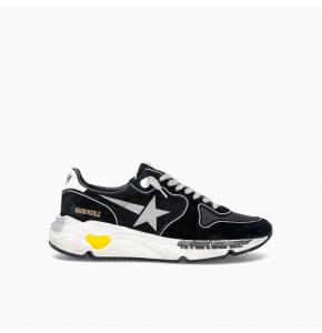Runnng sole low top sneaker BLACK SILVER