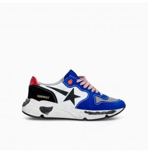 Running sole in blue suede