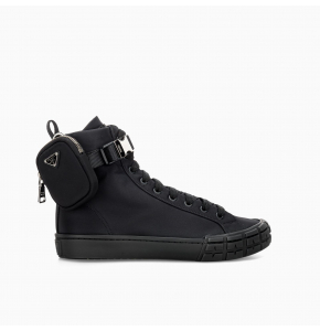 Prada Wheel Re-Nylon high-top sneakers
