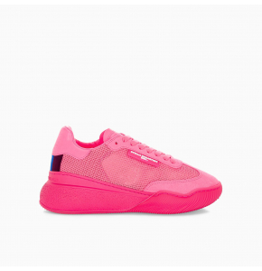 Fluo pink Loop Lace-up Sneakers