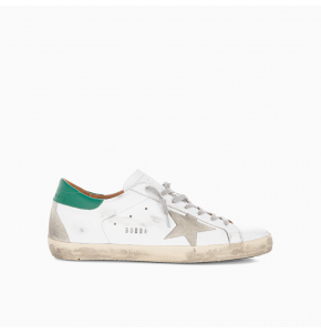 Super-Stars sneakers with green heel tab