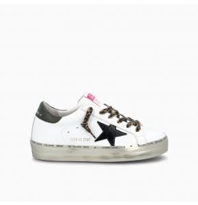 Hi Star sneakers with leopard-print laces