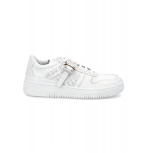 Whitye leather Buckle low trainer