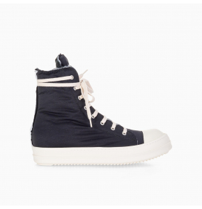 Raw cut high-top canvas sneakers