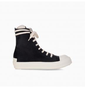 High-top suede sneakers