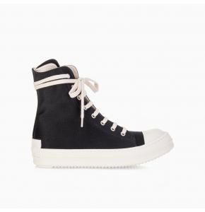 High-top doeskin sneakers