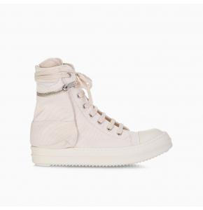 High-top canvas cargo sneakers