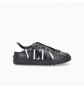 Black Open Sneaker with VLTN print