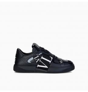 Low-Top Calfskin VL7N Sneaker with Bands