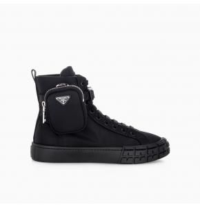 Wheel Re-Nylon Gabardine high-top sneakers