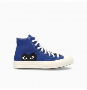 Converse x Comme des Garçons PLAY Chuck 70 High Top Black Heart Blue