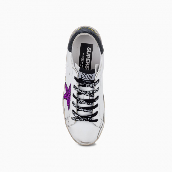 Super-Star sneakers with glitter and black heel tab
