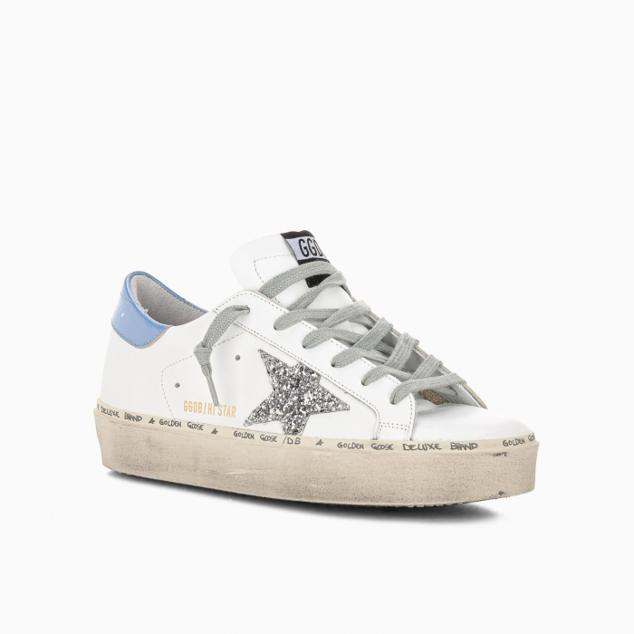 White Hi-Star sneakers with glittery star