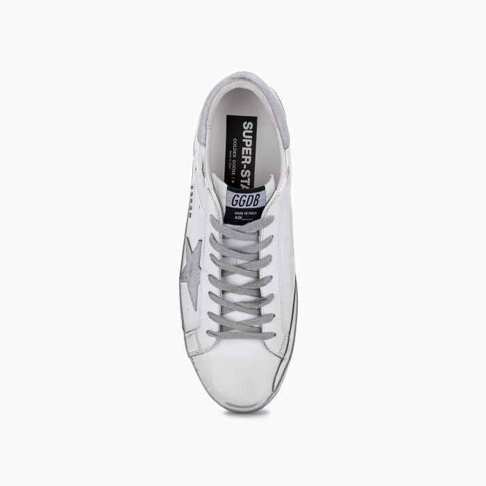 Super-Star sneakers with star and glitter heel tab