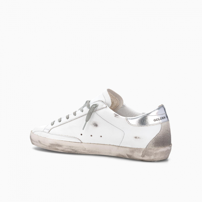 Superstar low top sneakers WHITE SILVER LETTERING