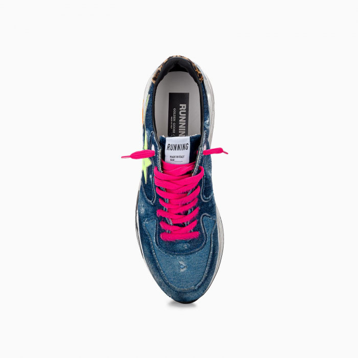 Denim running sole DARK BLUE + FLUO