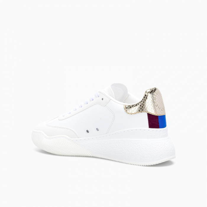 Loop lace up sneakers WHITE + GOLD