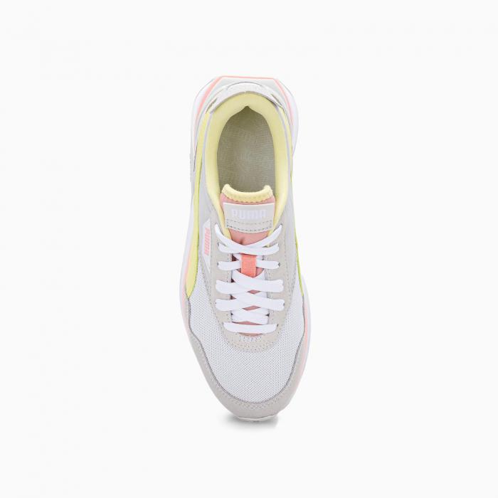 Cruise rider sneaker WHITE YELLOW ROSE