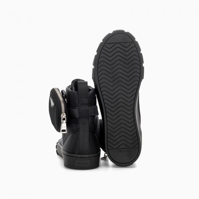 Prada Wheel Re-Nylon high-top sneakers