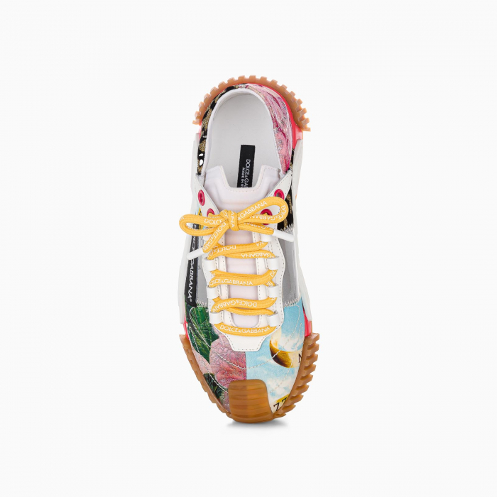 Patchwork fabric NS1 slip-on sneakers