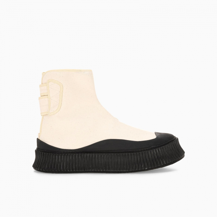 White Semi-lined boot sneakers