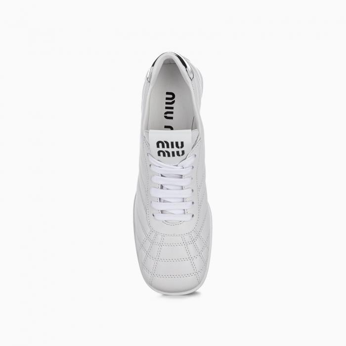 Nappa leather mid heel sneakers