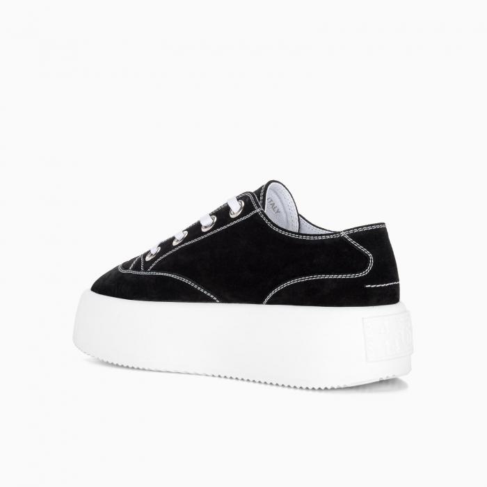 Double platform canvas sneaker
