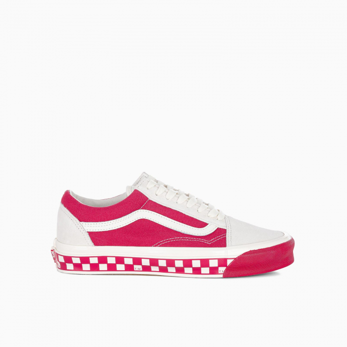 Red and white Old School OG LX